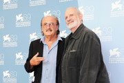 "Composer Pino Donaggio and director Brian de Palma attend the ""Passion"" Photocall during the 69th Venice Film Festival at the Palazzo del Casino on September 7, 2012 in Venice, Italy."