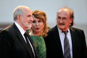 "Director Brian de Palma,  actress Noomi Rapace and composer Pino Donaggio attend the ""Passion"" Premiere during the 69th Venice Film Festival at the Palazzo del Casino on September 7, 2012 in Venice, Italy."