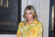 Elsa Hosk attends the Pat McGrath 'A Technicolour Odyssey' Campaign launch party at Brasserie of Light on April 04, 2019 in London, England.