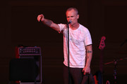 Flea performs on stage during Pathway To Paris Concert For Climate Action at Carnegie Hall on November 5, 2017 in New York City.