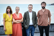 (L-R) Susana Abaitua, Elena Irureta, Jose Ramon Soroiz and Inigo Aranbarri attend 'Patria' photocall during 67th San Sebastian International Film Festival on September 21, 2019 in San Sebastian, Spain.