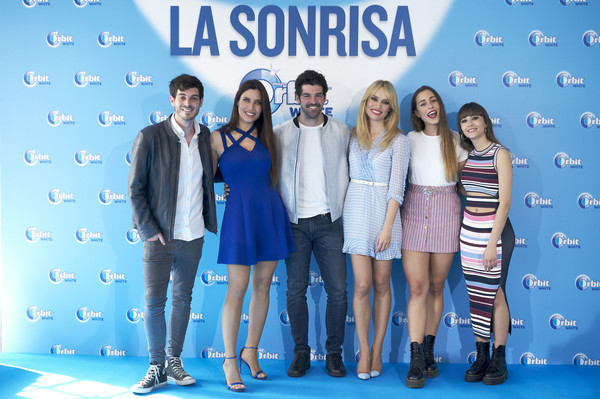 'Buscamos La Sonrisa Orbit White' Competition In Madrid [fashion,event,fun,leisure,fashion design,premiere,carpet,company,paula gonu,patricia conde,anton lofer,l-r,aitana attend,buscamos la sonrisa orbit white,competition in madrid,buscamos la sonrisa orbit white competition at club allard restaurant on may 9,madrid,spain]