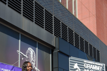 Patricia Houston Grammy Museum Experience Prudential Center Ribbon-Cutting Ceremony
