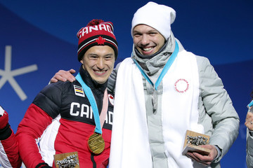 Patrick Chan Medal Ceremony - Winter Olympics Day 3