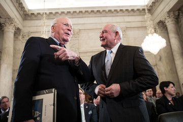 Patrick Leahy Senate Holds Confirmation Hearing For Sonny Perdue To Be Agriculture Secretary
