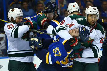 Patrik Berglund Minnesota Wild v St Louis Blues - Game Four