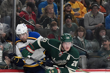 Patrik Berglund St Louis Blues v Minnesota Wild - Game One