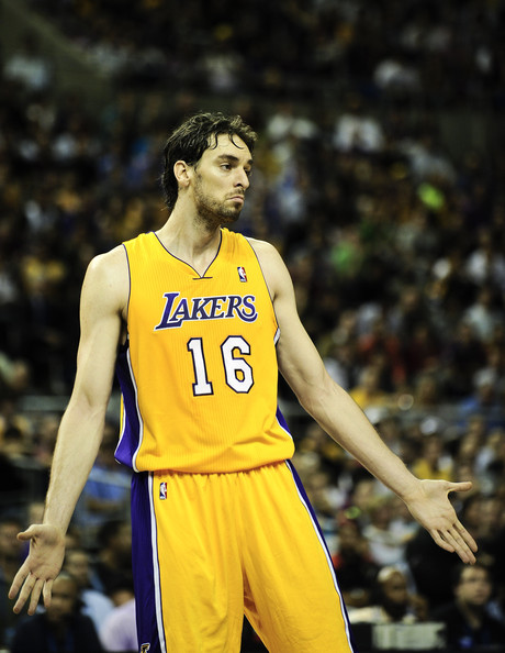 pau gasol spain jersey. Pau Gasol Pau Gasol #16 of the Los Angeles Lakers looks on during the  Size: 460x594 Filesize: 79.06 Kb