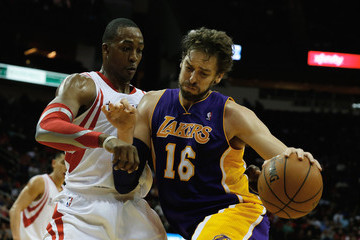 Pau Gasol Dwight Howard Los Angeles Lakers v Houston Rockets