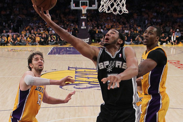 Pau Gasol Dwight Howard San Antonio Spurs v Los Angeles Lakers - Game Three
