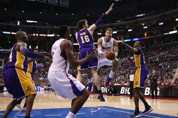 Pau Gasol Dwight Howard Los Angeles Lakers v Los Angeles Clippers
