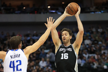 Pau Gasol San Antonio Spurs v Dallas Mavericks