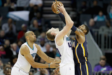 Paul George Indiana Pacers v Charlotte Hornets