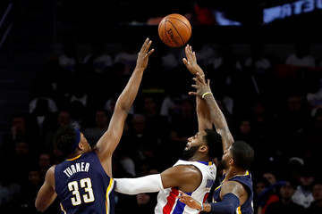 Paul George Indiana Pacers v Detroit Pistons