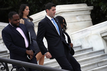 Paul Ryan Construction Begins for the Inauguration Platform With First Nail Ceremony