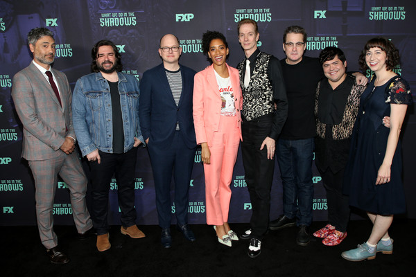 FYC Event Of FX's 'What We Do In The Shadows' [what we do in the shadows,event,premiere,performance,formal wear,taika waititi,paul simms,doug jones,stefani robinson,fx,l-r,fyc,event,event]