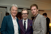 (L-R) Paul Smith, Gary Oldman, and Dan Stevens attend Paul Smith's intimate dinner with Gary Oldman at Chateau Marmont on April 10, 2018 in Los Angeles, California.