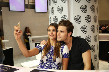 Paul Wesley Nina Dobrev Warner Bros. At Comic-Con International 2014