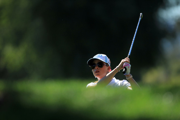 Paula Creamer Of The Usa Plays Her Second Shot At