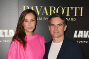 """Ingrid Vandebosch and Jeff Gordon attend the """"Pavarotti"""" New York Screening at iPic Theater on May 28, 2019 in New York City."""