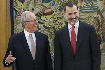 Pedro Pablo Kuczynski Spanish Royals Receive President of Peru And His Wife