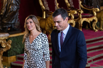 Pedro Sanchez Spanish Royals Attend The National Day Military Parade