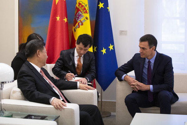 The Spanish Prime Minister Receives Chinese President Xi Jinping