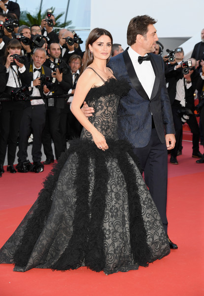 'Everybody Knows (Todos Lo Saben)' & Opening Gala Red Carpet Arrivals - The 71st Annual Cannes Film Festival [everybody knows,red carpet,dress,carpet,clothing,gown,premiere,flooring,event,fashion,strapless dress,javier bardem,penelope cruz,jewels,screening,cannes,red carpet arrivals,atelier swarovski fine jewelry,cannes film festival,palais des festivals]