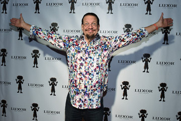 Penn Jillette Carrot Top 10th Anniversary Celebration at The Luxor in Las Vegas