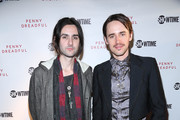 """Reeve Carney (R) and Zane Carney attend """"Penny Dreadful"""" Screening And Q&A With Reeve Carney at Tribeca Cinemas on April 30, 2015 in New York City."""