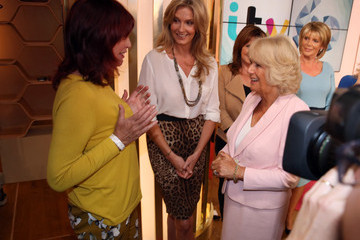 Penny Lancaster Camilla, Duchess of Cornwall Visits ITV Studios To Mark Their 60th Anniversary