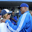 Penny Marshall Celebrities At Los Angeles Dodgers Game - July 31, 2013
