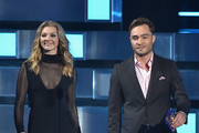 Actors Natalie Dormer and Ed Westwick walk onstage during the People's Choice Awards 2016 at Microsoft Theater on January 6, 2016 in Los Angeles, California.