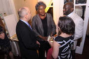 (L-R) TIME Washington Bureau Chief Michael Duffy, political strategist Donna Brazile, Jeff Ballou and Journalist Ceci Connolly attend the People/TIME White House Correspondents' dinner cocktail party at the St. Regis Hotel on April 29, 2011 in Washington, DC.