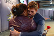 William Levy and superfan Luz Subervi on stage during People en Español 6th Annual Festival to Celebrate Hispanic Heritage Month - Day 2 on October 06, 2019 in New York City.