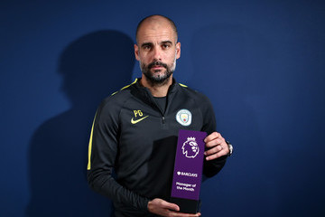 Pep Guardiola Pep Guardiola Receives the Barclays Manager of the Month Award for February