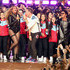 Chris Martin Bruno Mars Photos - (L-R) Beyonce, Chris Martin of Coldplay and Bruno Mars perform onstage during the Pepsi Super Bowl 50 Halftime Show at Levi's Stadium on February 7, 2016 in Santa Clara, California. - Pepsi Super Bowl 50 Halftime Show