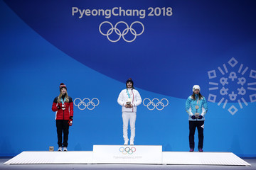 Perrine Laffont Medal Ceremony - Winter Olympics Day 3