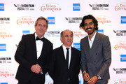 "Hugh Laurie, director Armando Iannucci and Dev Patel attends ""The Personal History Of David Copperfield"" European Premiere & Opening Night Gala during the 63rd BFI London Film Festival at the Odeon Luxe Leicester Square on October 02, 2019 in London, England."