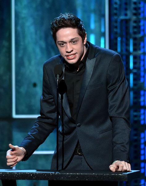 Pete Davidson Comedian Pete Davidson speaks onstage at The Comedy ...