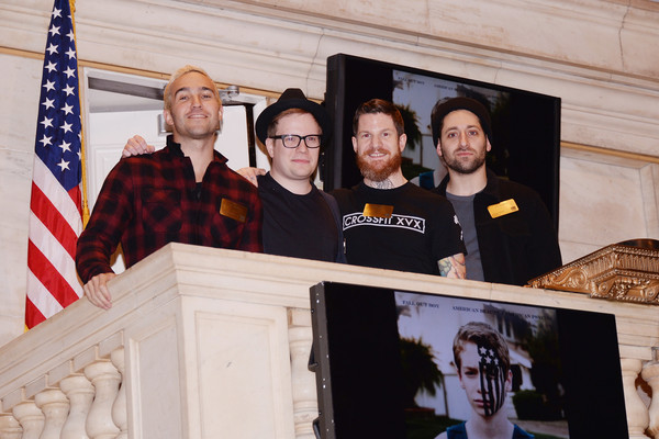 Pete Wentz And Andy Hurley Photos Photos Fall Out Boy Rings The