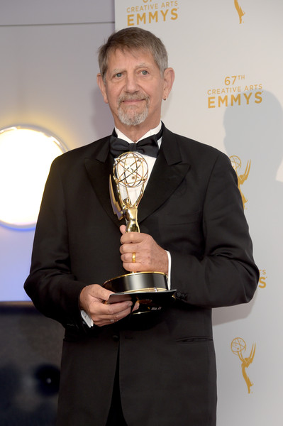 2015 Creative Arts Emmy Awards - Press Room [the roosevelts: an intimate history,award,award ceremony,suit,trophy,formal wear,tuxedo,white-collar worker,businessperson,peter coyote,narrator,award,room,press room,microsoft theater,california,los angeles,creative arts emmy awards]