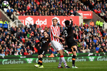 Peter Crouch Stoke City v Hull City - Premier League