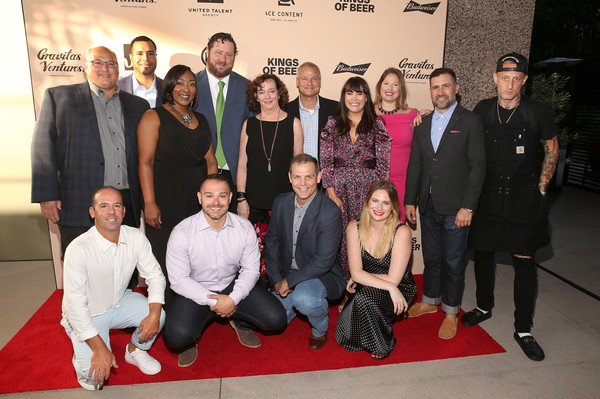 World Premiere Of 'KINGS OF BEER' In Beverly Hills [kings of beer,social group,event,youth,team,premiere,carpet,red carpet,flooring,budweiser,producer,business director,sean mullin,tim seitz,ace content,united talent agency,gravitas ventures,world premiere]