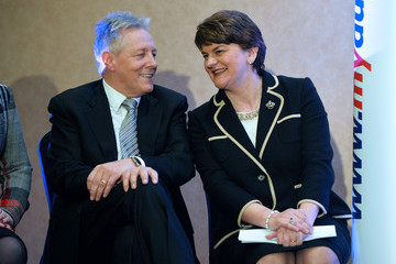 Peter Robinson Arlene Foster Becomes First Female Leader of the DUP