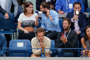 Peter Sarsgaard Ebon Moss-Bachrach The Moet & Chandon Suite At The 2014 US Open - Men's Final