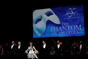"""Sierra Boggess, Hugh Panaro, Kyle Barisich and the cast of """"The Phantom of the Opera"""" attend """"The Phantom Of The Opera"""" Broadway 25th Anniversary at Majestic Theatre on January 26, 2013 in New York, New York."""