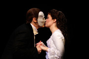 """Sierra Boggess and Hugh Panaro attend """"The Phantom Of The Opera"""" Broadway 25th Anniversary at Majestic Theatre on January 26, 2013 in New York, New York."""