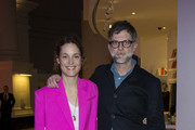 Actress Vicky Krieps (L) and director Paul Thomas Anderson attend an exclusive screening of 'Phantom Thread' hosted by Universal Pictures in partnership with PORTER at the Victoria and Albert Museum on January 27, 2018 in London, England.