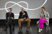 Director Paul Thomas Anderson, Daniel Day-Lewis and Vicky Krieps attend an exclusive screening and Q&A of 'Phantom Thread' hosted by Universal Pictures in partnership with PORTER at the Victoria and Albert Museum on January 27, 2018 in London, England.